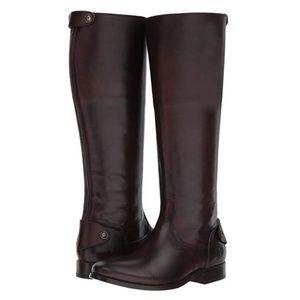 FRYE Melissa Button Back Zip Knee High Boots Tall